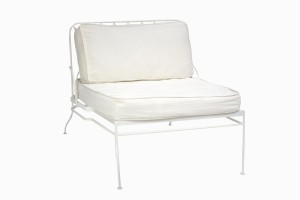 Palm Springs chair white, with full back cushions