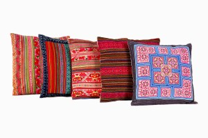 North East Indian square cushions