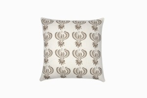 Taupe climbing flower cushion 46cm x 46cm