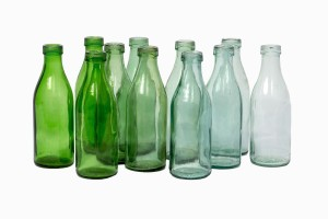Eastern European vintage milk bottles