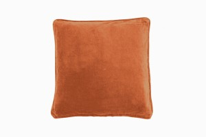 Square velvet cushion tangerine