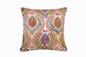 Uzbeki square embroidered cushion Ref 27