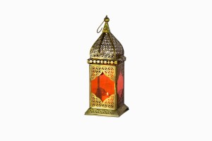 Jaipur Lantern Brass-Orange