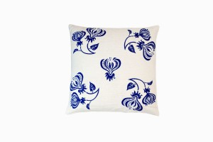 BLUE CLIMBING FLOWER CUSHION (SPREAD) (46CM X 46CM)