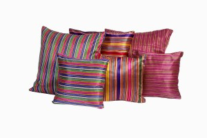 Syrian silk and cotton scatter cushions
