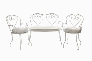 Deauville heart two seater sofa and chairs