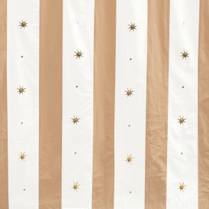 Mushroom and cream banded wall with gold stars