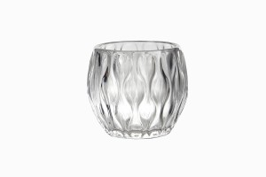 Swedish clear glass votive Ref 1