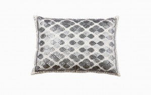 Moroccan silver diamond pattern cushion