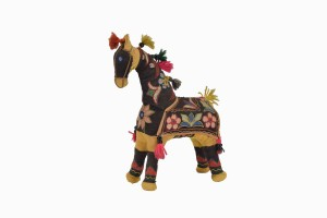 Vintage Indian hand embroidered horse