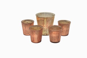 Gold and copper glass votives