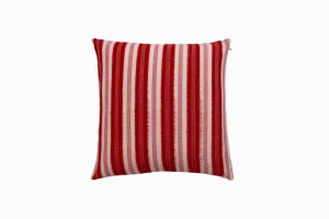 Red stripe Ikat cushion