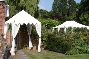 2m Pergola used as an entrance tent