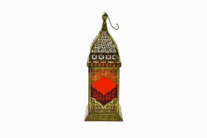 Jaipur Lantern Brass-Red