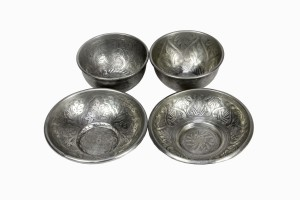 Assorted Decorative Silver Bowls