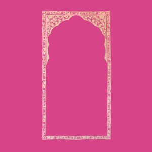 Rani pink golden arch wall