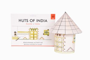 Huts of India Gujurat with made up hut