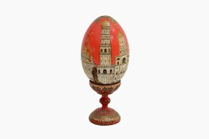 Vintage Russian hand decorated egg