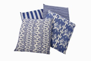Hand block print cotton cushions in assorted patterns