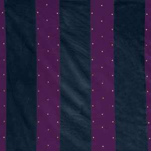 Grape and indigo stripe wall