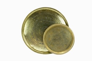 Moroccan antique brass trays