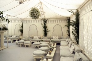 Venue pic pale grey and cream colour scheme at private address Mayfair