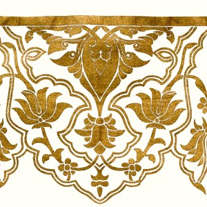 Gold decoration for top of tent wall