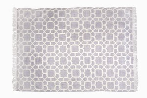 Washable recycled plastic rug R43