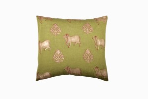 Holy cow square green cushion